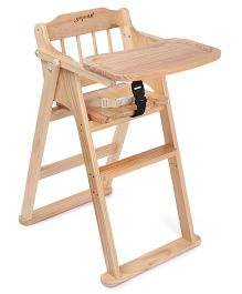 Fab N Funky Wooden High Chair with Safety Belt
