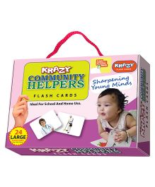 Krazy Community Helpers Flash Cards With Ring - 26 Large Flash Cards