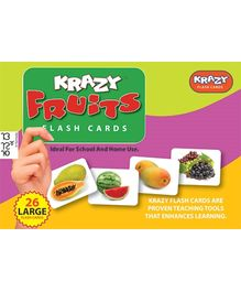 Krazy Fruits Kannada Flash Cards - 26 Large Flash Cards