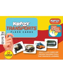 Krazy Transport Bengali Flash Cards With Plastic Ring - 26 Large Flash Cards