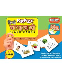 Krazy Hindi Barakhadi Flash Cards With Plastic Ring - 46 Large Flash Cards