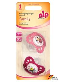 nip Family Silicone Soothers  - Pack of 2