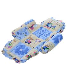 Littles Compact Baby Bed Teddy Bear Print Blue