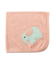Child World Baby Towel Elephant Print - Peach
