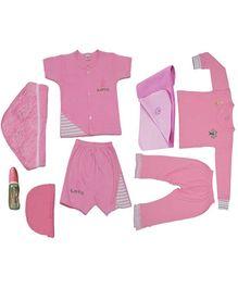 JO Kidswear Pink Clothing Gift Set With Cap