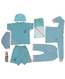 JO Kidswear Blue Clothing Gift Set With Cap