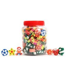 Mr. Clean Small Multi Color Erasers In Jar- 100 Pieces