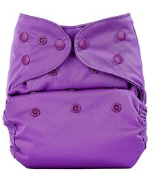 Bumberry Cloth Diaper Cover With One Bamboo Insert - Violet