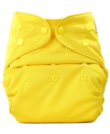 Bumberry Cloth Diaper Cover With One Bamboo Insert - Yellow