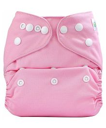 Bumberry Cloth Diaper Cover With One Bamboo Insert - Pink