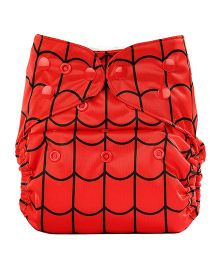 Bumberry Cloth Diaper Cover With One Bamboo Insert - Highlight Red