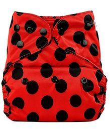 Bumberry Cloth Diaper Cover With One Bamboo Insert - Ladybug