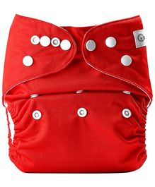 Bumberry Pocket Cloth Diaper With One Microfiber Insert - Red