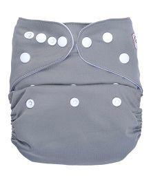 Bumberry Pocket Cloth Diaper With One Microfiber Insert - Grey