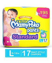 MamyPoko Standard Pant Style Diapers Large - 17 Pieces