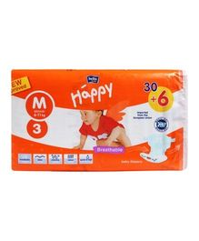 Bella Baby Happy Diapers Medium - 36 Pieces