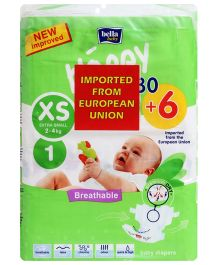 Bella Baby Happy Diapers Extra Small - 36 Pieces