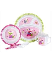 Baby Essentials Ladybug 5 Piece Feeding Set Pink