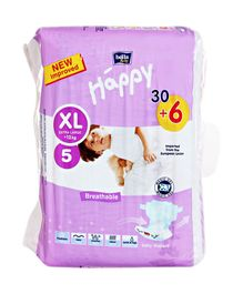 Bella Baby Happy Diapers Extra Large - 36 Pieces