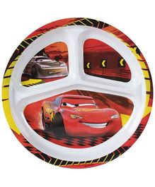 Disney Pixar Cars Print Section Plate - Red