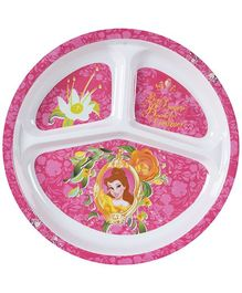 Disney Princess Print 3 Section Plate - Pink
