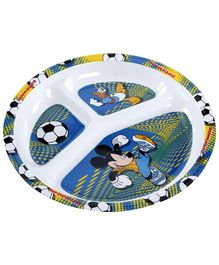 Mickey Mouse And Friends Print 3 Section Plate - Round