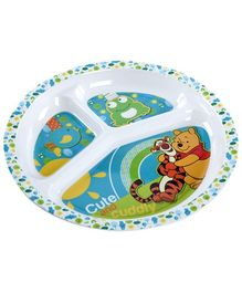 Winnie the Pooh 3 Section Plate - Round
