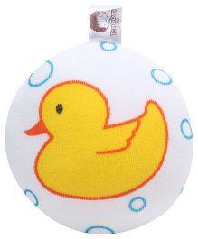 Duck Print Bath Sponge - Yellow