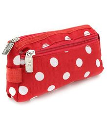 PEP INDIA Trendy Multi Purpose Pouch Polka Dots Print - Red and White