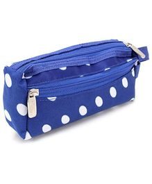 PEP INDIA Trendy Multi Purpose Pouch Polka Dots Print - Blue and White