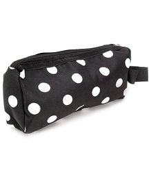 PEP INDIA Trendy Multi Purpose Pouch Polka Dots Print - Black and White