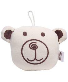 Teddy Face Design Bath Sponge - Brown