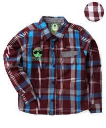 Papple Checks Full Sleeves Shirt - Brown