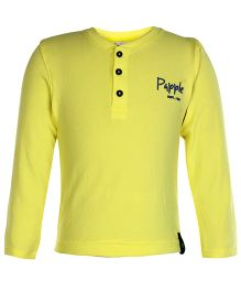 Paaple Full Sleeves T-Shirt - Yellow