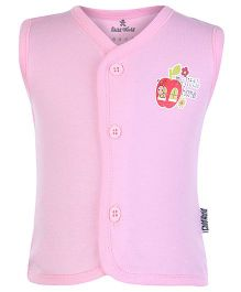 Child World Sleeveless Vest Pink - Apple Print