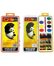 Kung Fu Panda Water Color and Crayons Set