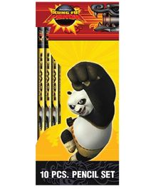 Kung Fu Panda Pencil Set - 10 Pieces