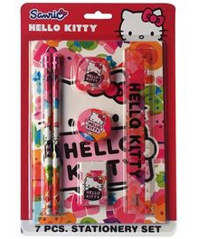 Hello Kitty Pink Stationery Set - 7 Pieces