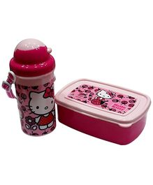 Hello Kitty Pink Lunch Box Kit With Free Movie DVD