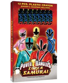 Power Ranger Hexagonal Plastic Crayons - Set of 12