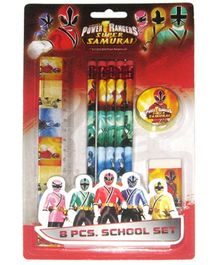 Power Rangers Red Stationery Set - Set of 8 Pieces
