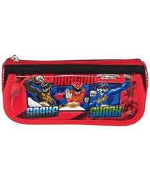 Power Rangers Red Pencil Pouch - Shark Print