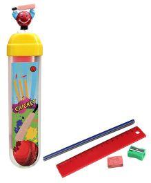 Buddyz Cricket Ball Figurine Fun Pencil Box (Color May Vary)