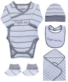 Papple Multpiece Clothing Set - Grey