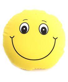 Dimpy Stuff Smiley Cushion  - Yellow