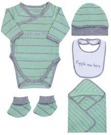 Papple Multipieces Onesie Set - Grey & Green