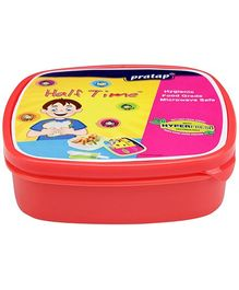 Pratap Half Time Square Lunch Container - Red