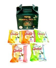 Tota Herbal Gulal Gift Pack 100 gm - Pack of 5 Assorted Colors