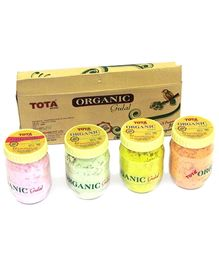 Tota Organic Gulal Gift Pack 125 gm - Pack of 4 Assorted Colors