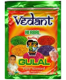 Vedant Herbal Gulal Pouch Pack - 100 gm Assorted Colors